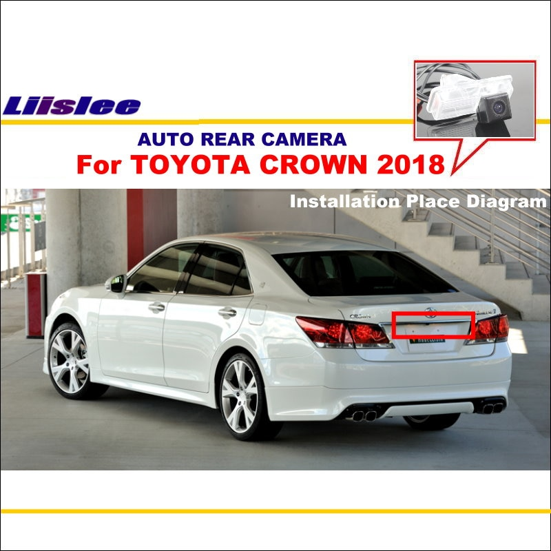 liislee rear view camera for peugeot 408 2014 2018 reverse hole parking back up camera night vision Liislee Car Rear View Reverse Camera For TOYOTA CROWN 2018 ~ 2019 Parking Back up Camera HD CCD License Plate Light Night Vision