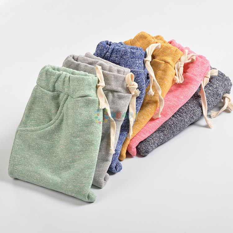 Top Quality Cotton Baby Boys Girls Harem Pants Kids Children Trousers Boys Girls Clothes Kids Casual Long Pants Joggers 2-10 Ye