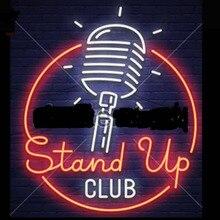 Stand Up Neon znak dla klubu Neon żarówki zarejestruj prawdziwe szkło Tube Handcrafted Neon Beer Bar znak dekoracji klub neon znak światła 24x20