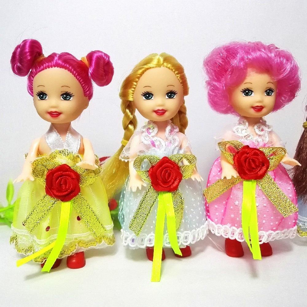 10cm pequeña Kelly muñeca juguetes de dibujos animados de moda muñeca de...