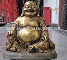 Xd-Statue de bouddha Maitreya   Temple bouddhiste du Tibet, Gild en Bronze, argent chanceux, 00110