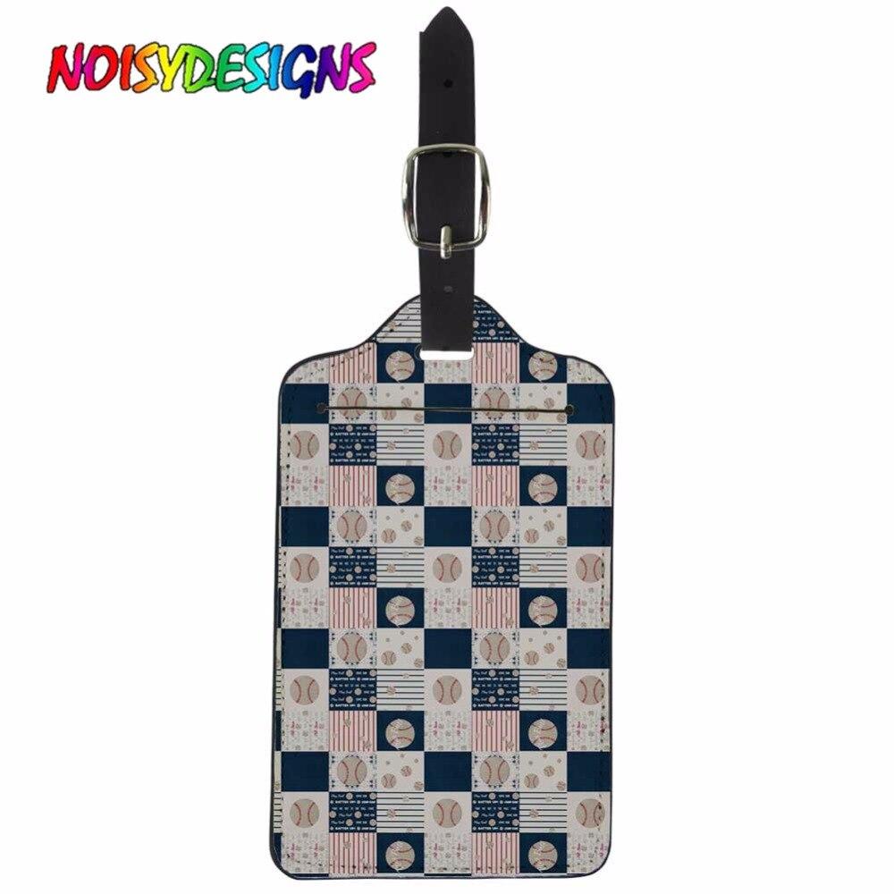 Etiqueta de equipaje NOISYDESIGNS, gran oferta, diseño acolchado de béisbol, etiqueta de equipaje portátil DIY, etiquetas personalizadas para tarjetas de crédito de tienda