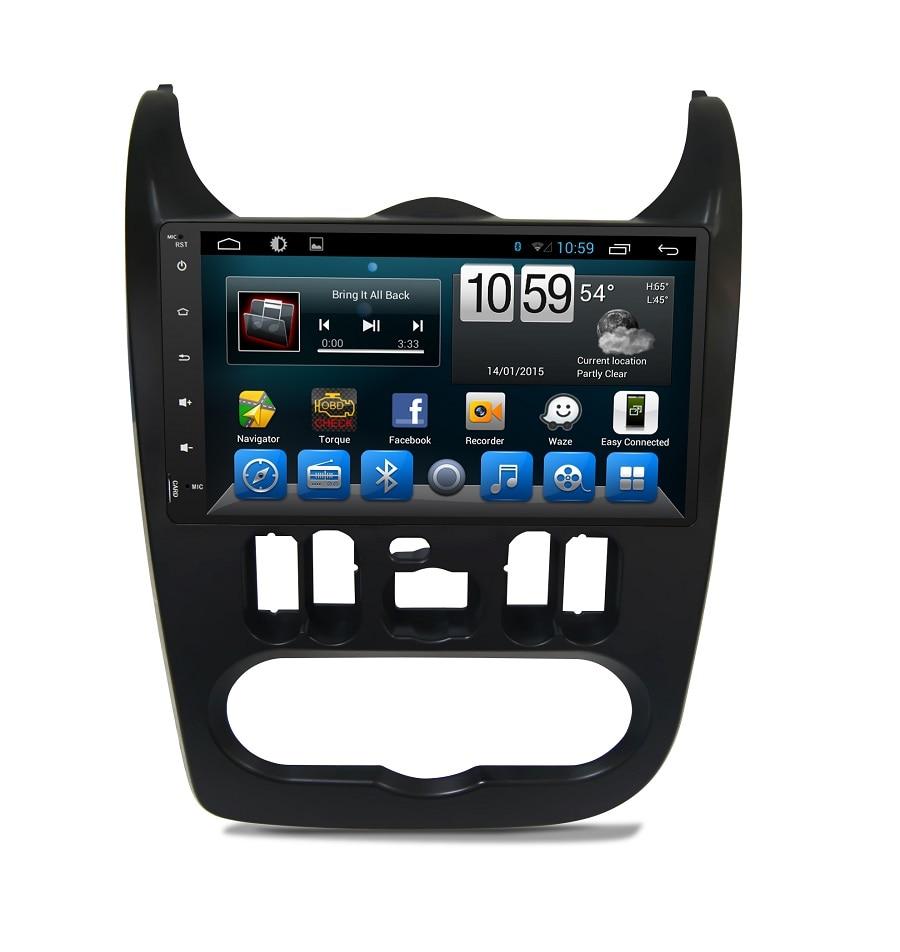 Reproductor de dvd para coche Navirider para Renault sandero octa core android 8.1.0 GPS para coche unidad principal multimedia grabadora de cinta ESTÉREO