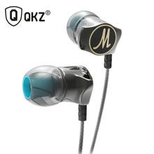 Earphones QKZ DM7 Edition Gold Plated Housing Headset Noise Isolating HD HiFi Earphone sports gaming headset + storage Bag