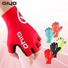 Giyo 사이클링 장갑 남성 여성 자전거 장갑 레드/블랙/블루/핑크/옐로우 S XXL luvas bicicleta gants velo mtb 도로 자전거 장갑