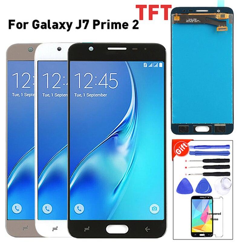 Para SAMSUNG Galaxy J7 Prime 2018 LCD pantalla táctil para Galaxy J7 Prime2 G611 G611F LCD pantalla Original probada + herramientas