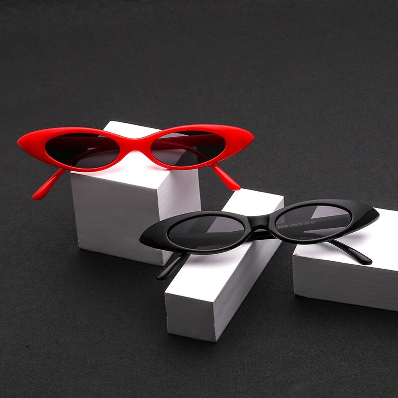 Women Vintage 90s Brand Designer Oval Sunglasses Cat Eye Sunglasses Small Frame ladies Sun Glasses oculos de sol 2018