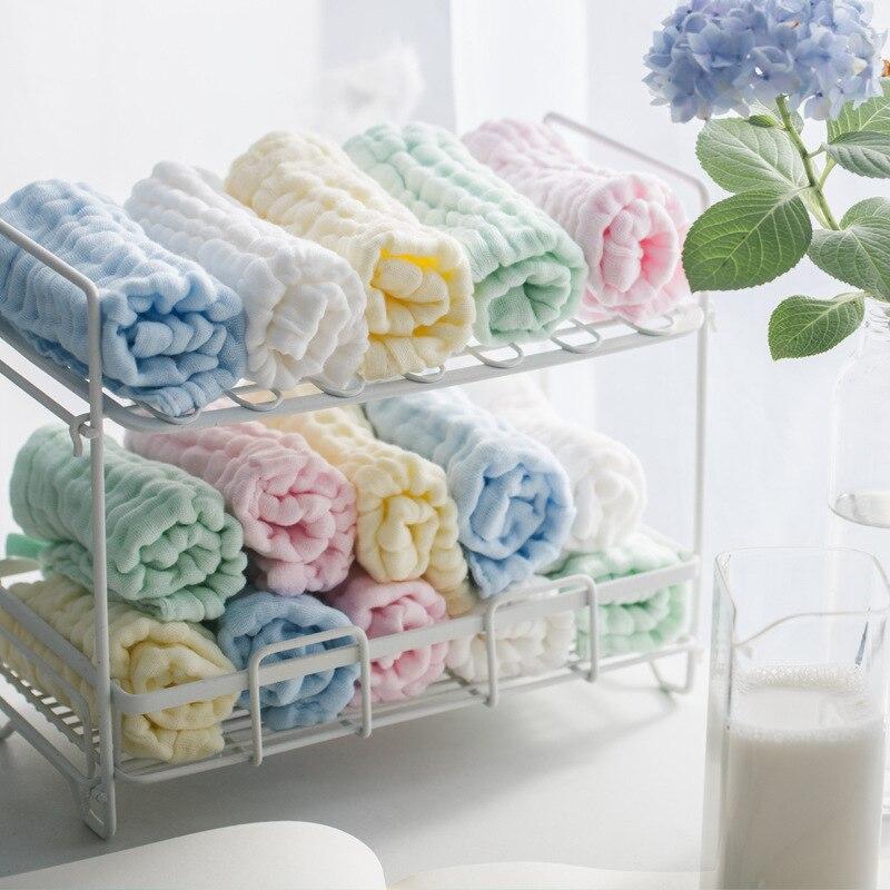Стильный комплект из 3 предметов, 6 слоев детское хлопковое газовое платье муслин детское полотенце для лица полотенце для мытья матерчатые ...
