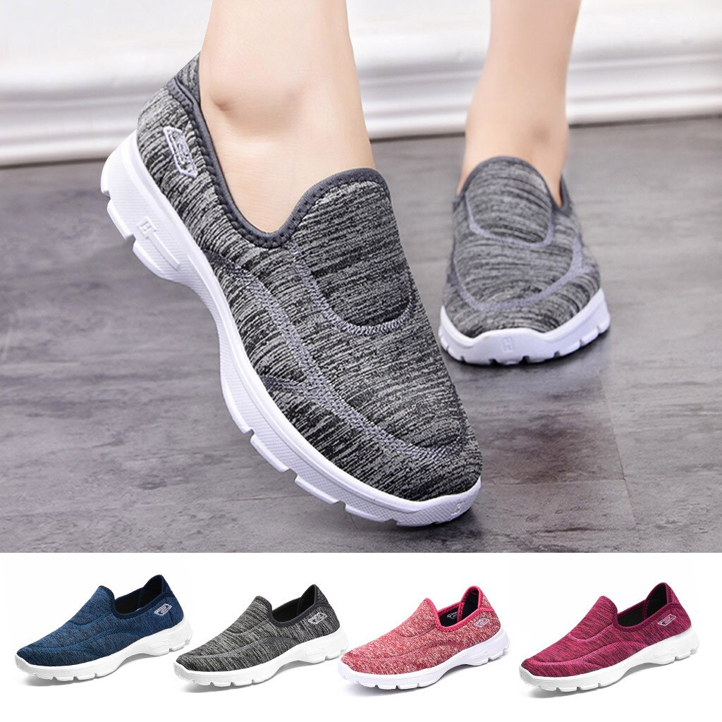Zapatos de malla para correr para mujer, zapatos casuales transpirables con suela cómoda, zapatos deportivos para exteriores, zapatos deportivos de mujer # g4