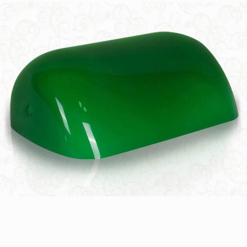 مصباح عتيق كلاسيكي لون الزجاج الأخضر/الأبيض/الأزرق/الكهرماني مصباح المصباح الغطاء/مصباح المصرفيين ظلال مصباح الطاولة طول 227 مللي متر