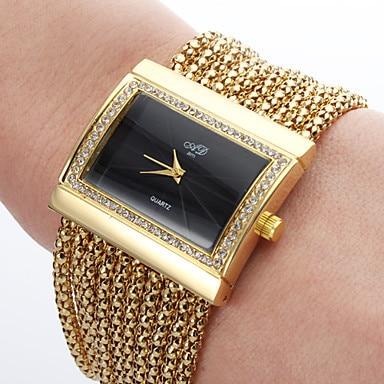Hot Sale, Alloy Analog Women Luxury Watch, Gold/Silver Quartz Bracelet Watch