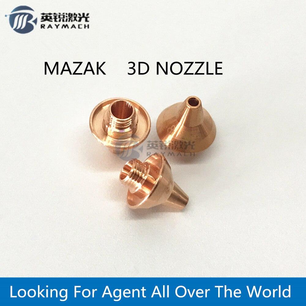 Boquilla láser MAZAK 3D, cortadora de tubos láser de fibra M5 H12 D10.5, piezas de repuesto de fibra, Conector de soporte de boquilla de cobre 3d