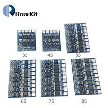 5S Placa de protección de función de equilibrio de 21V 4,2 V 68mA 5S Li-ion batería de litio 18650 baterías balanceadas 3S 4S 5S 6S 7S 8S