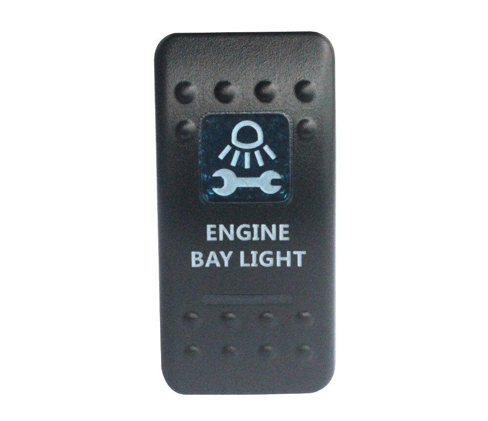 5 pinos de ligar/desligar spst motor bay luz rocker switch azul led para narva arb carling estilo substituição marinha grau