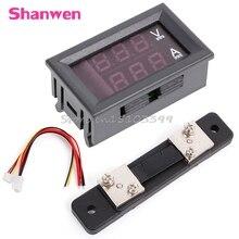 0-100V/50A rouge bleu voltmètre numérique ampèremètre 2in1 DC Volt ampèremètre W/ Shunt G08 vente en gros et livraison directe