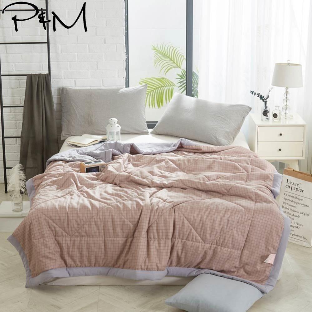 Стеганое одеяло из полиэстера тонкое летнее стеганое полный размер королевы