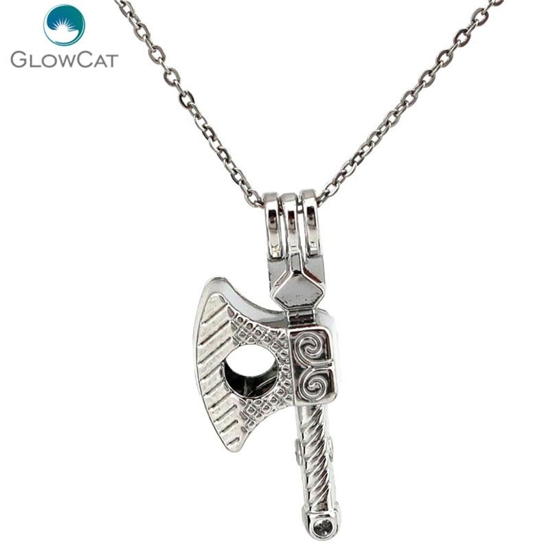 K633 creativo hacha cuentas jaula perla colgante de Zodiaco constelación de Aroma de aceite esencial difusor collar medallón