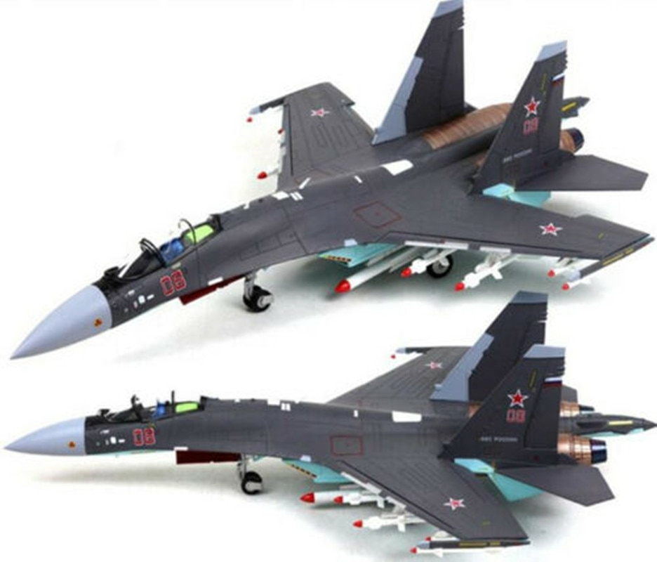 1/48 Metal Modelo Sukhoi Su-35 Flanker Su35 Rússia Combate Lutador Aeronave Avião