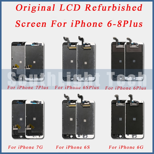 Grado AAA + + + pantalla LCD Original restaurada para iPhone 6S 7 8 Plus Digitalizador de pantalla táctil de pantalla LCD Original