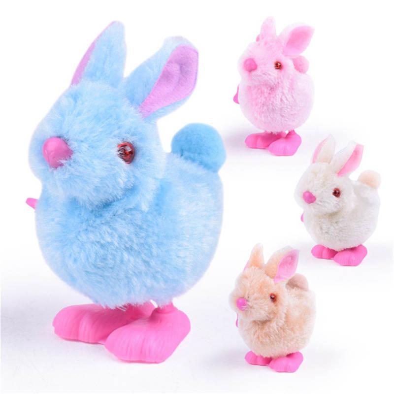 Juguetes de cuerda de conejo de peluche juguetes de dibujos animados de conejo infantil juguetes de peluche
