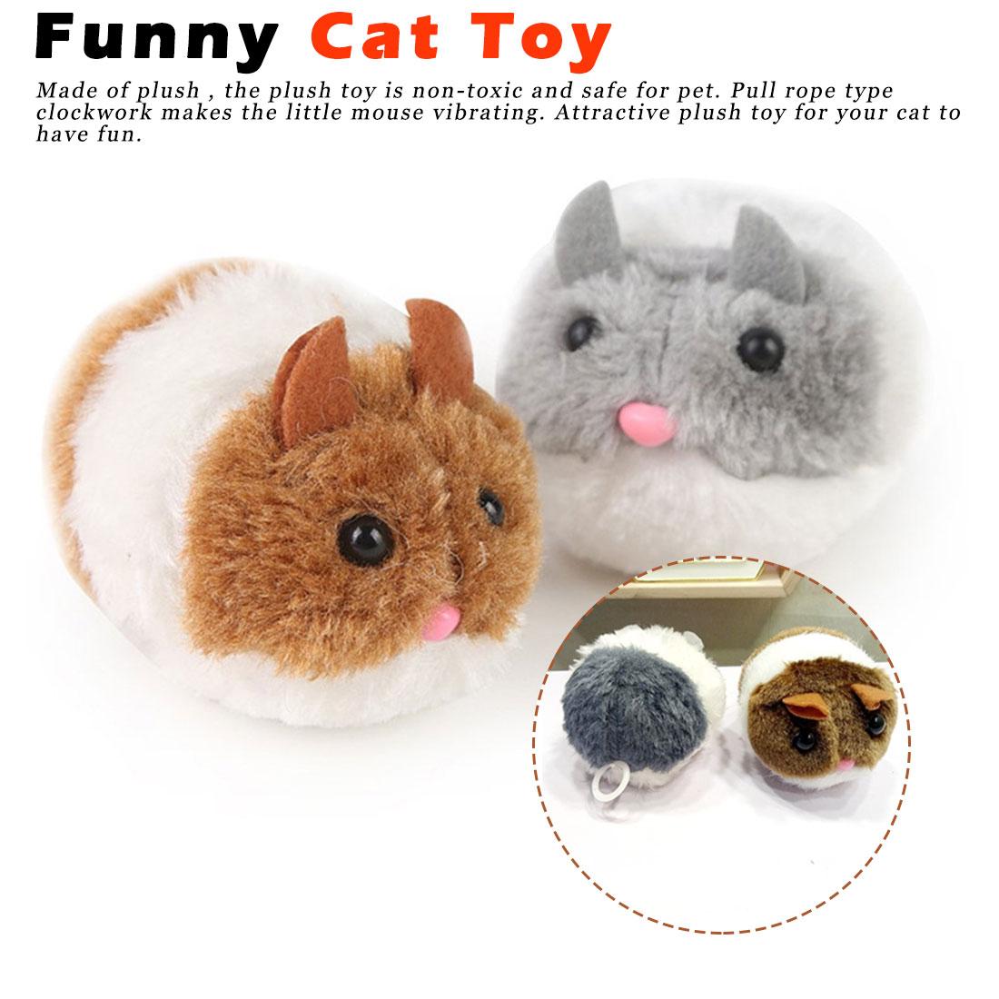 1PC Cute Cat Toy Plush Fur Toy Shake Movement Mouse Pet Funny Movement Rat Little interactive bite toy