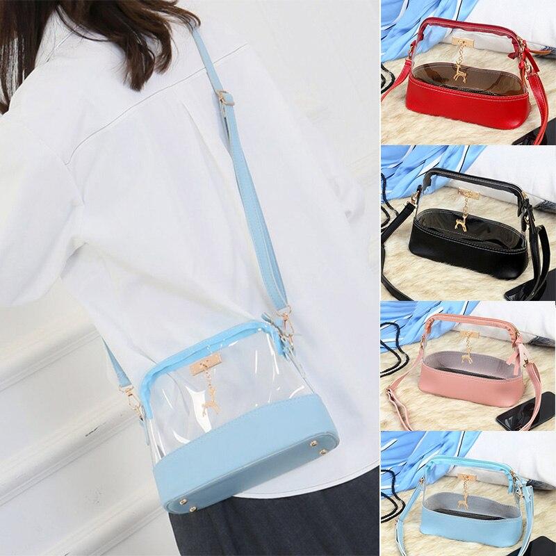 2019 nuevo bolso transparente de un solo hombro bolso de Colgante animal con correa para mujeres niñas WML99