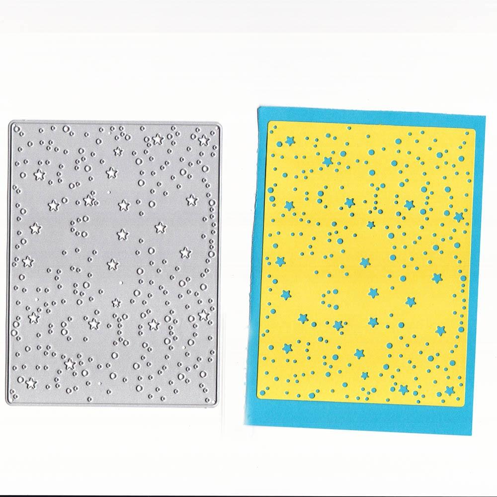 YLCD1629 estrella fondo de corte de Metal muere por plantillas para libro de recortes decoración de álbumes de tarjetas de manualidades en relieve carpeta morir herramienta de cortes