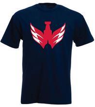 Marine Washington Ovechkin tasse Logo T-Shirt 2018 mode à manches courtes noir T-Shirt T-Shirt à manches courtes hauts