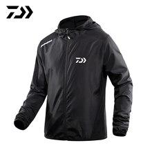 Daiwa Spring Summer New Fishing Jacket Sun Protection Hooded Men Outdoor Breathable Anti-UV Daiwa Hoodie Sports Running Shirt