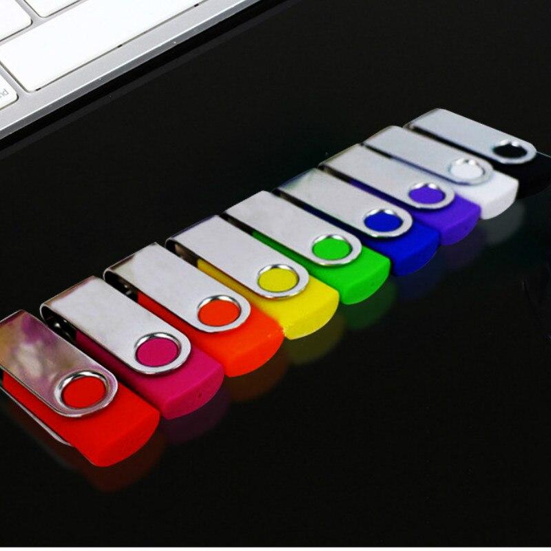 Pendrive USB 2,0 con logotipo personalizado, unidad Flash OTG de doble uso,...