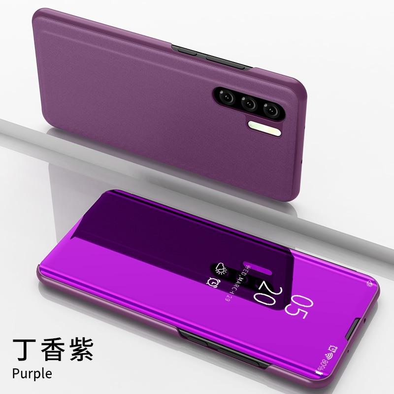 Funda con tapa de espejo para Huawei P30 Pro P20 Lite para Samsung Galaxy S10 S9 S8 Plus para Samsung A8 A6 Plus J4 J6 J8 2018