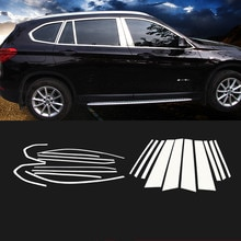 Pour 2016 2017 2019 BMW X1 F48 standard empattement 304 en acier inoxydable porte de voiture pleine fenêtre cadres ill moulage revêtement dhabillage 20 pièces