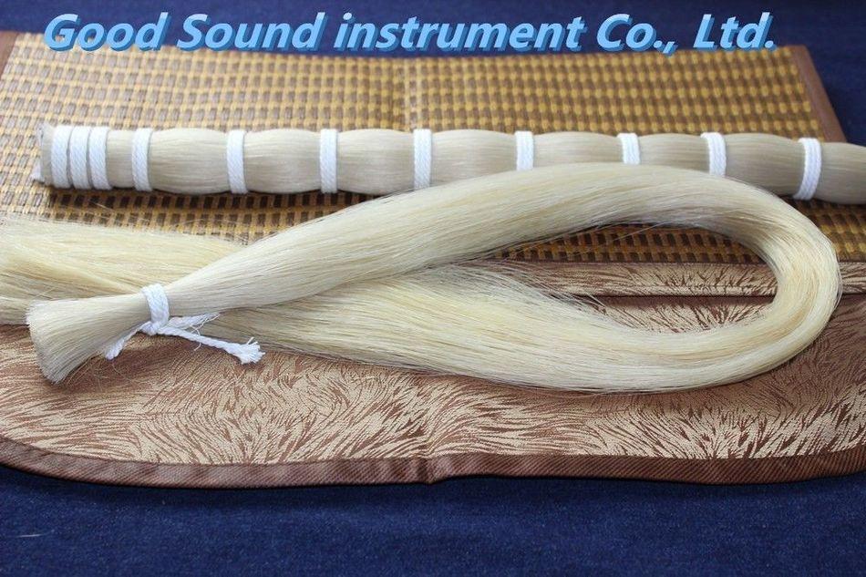 250 г конский волос AAA оптом белый конский волос Лук части монгольские жеребцы 80-85 см