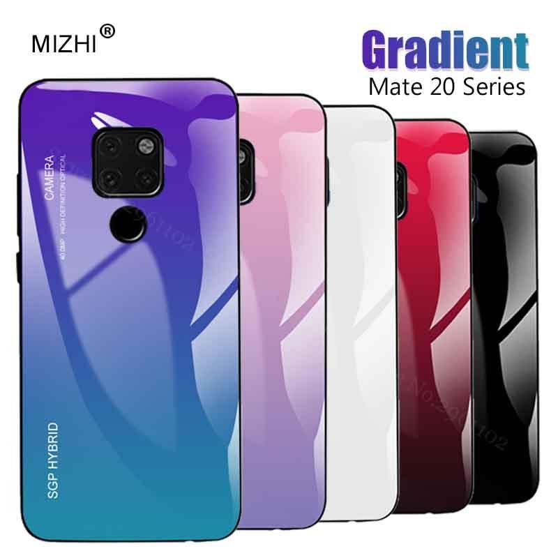 Caso de Huawei Mate 20 Pro X P 10 Smart Plus Nova 3 3i P20 Lite Pro P10 Plus cubierta de vidrio en Huawey Psmart P 20 P20lite Nova3
