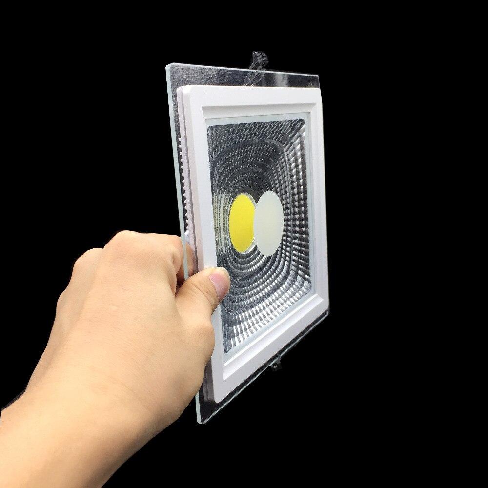 Panel de luz cuadrado LED mazorca LED Downlight 5W 10W 15W 25W de potencia Real de techo empotrada LED Spot Ligt AC110V 220V iluminación interior