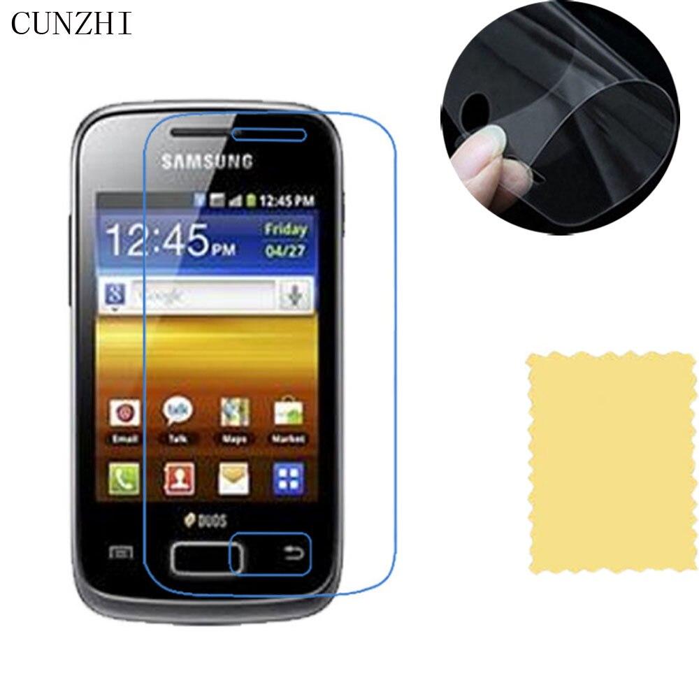 Cunzhi 5 pièces haut transparent LCD Ultra mince Film de protection décran pour Samsung Galaxy Young S6310