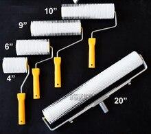 Outils de revêtement de sol époxy pour rouleau à crampons pour enlever les bulles hauteur de dent 12mm