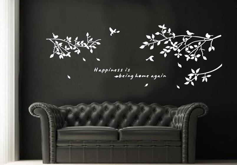 Árbol grande para pájaros en ramas 8118 y % blanco, negro y marrón, opciones de tres colores, rama para pájaro tallada a mano, pegatinas de pared de PVC, decoración para sala de estar