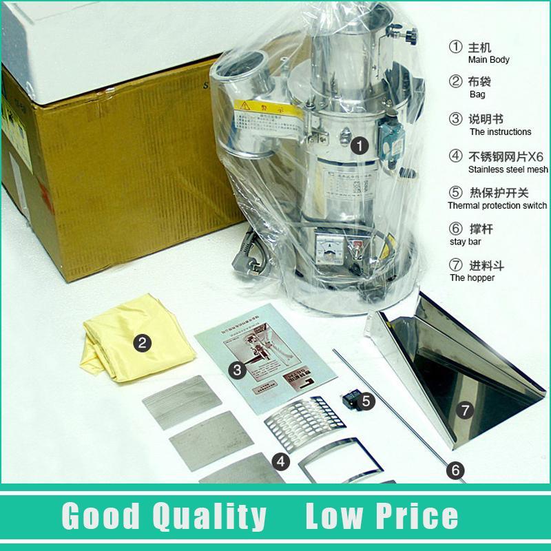 1500 W de Alimentação Elétrica Chinesa Ervas Especiarias Pulverizer Máquina de Pó de Fibra Superfina