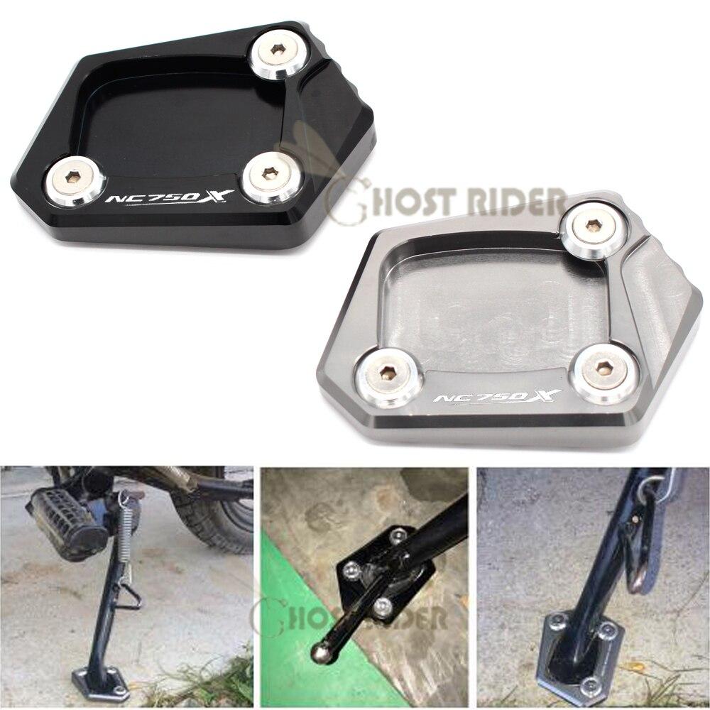 CNC palanquilla de aluminio Kickstand Placa de pie extensión de soporte lateral ampliación de la almohadilla para HONDA NC 750 X NC750X NC 750X 2013 2014