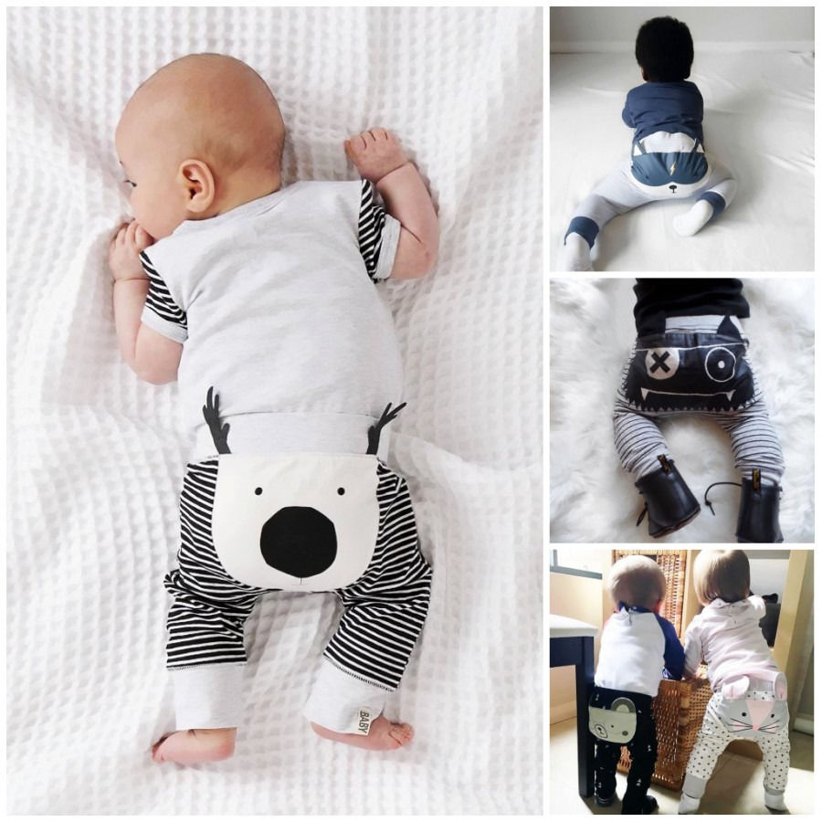 Lindo Adorable bebé niño harén Animal Pantalones Niño niña dibujos animados Pantalones 0-24 M