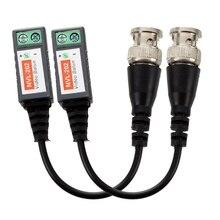 2 réseaux CAT 5 caméra CCTV BNC coaxial passif vidéo balun UTP émetteur-récepteur adaptateur coaxial câble