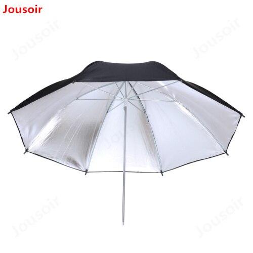 Portable 83cm Studio Video Flash Light Umbrella Reflective Reflector Black Sliver Photo Photography Umbrellas CD50 A