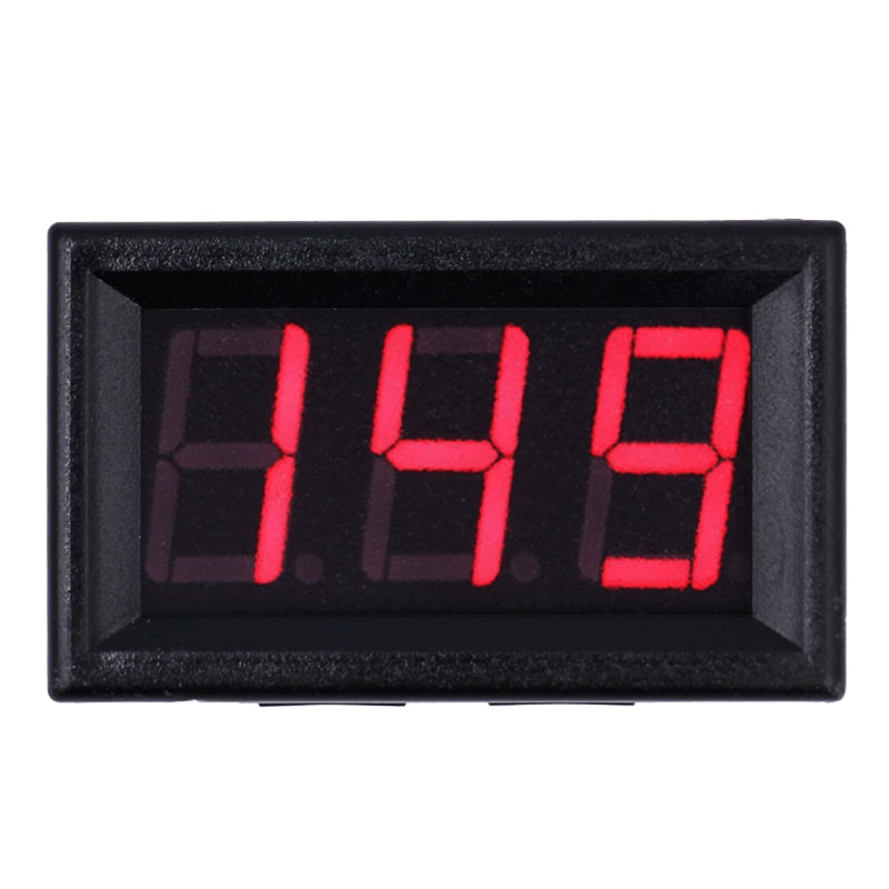 "0,56 ""3 cables DC 25-500V LED rojo verde pantalla panel voltímetro digital voltaje metros coche voltímetro detectores 44% de descuento"