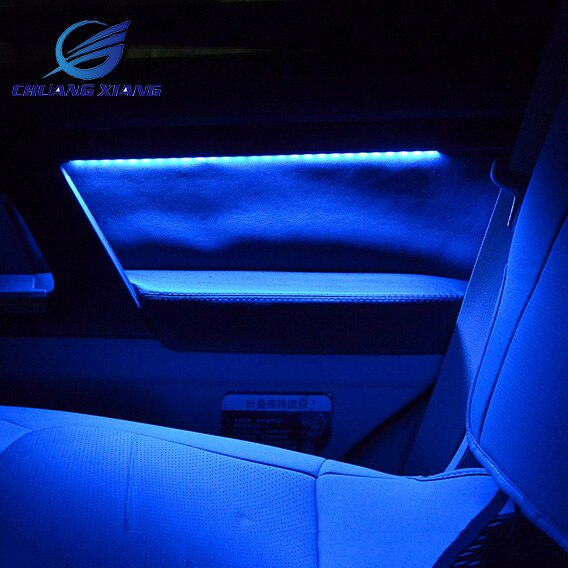 Lámpara de ambiente Interior para coche de 4 colores con puerta, Penals FJ200 200 Toyota Land Cruiser de madera para 2008 -2017, 7 piezas, modelos