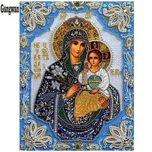 Peinture en diamant en broderie 3D   Décoration de décoration, broderie de diamant, vierge marie enfants, Religion chrétienne, jésus-Christ, amour maternel pour enfant