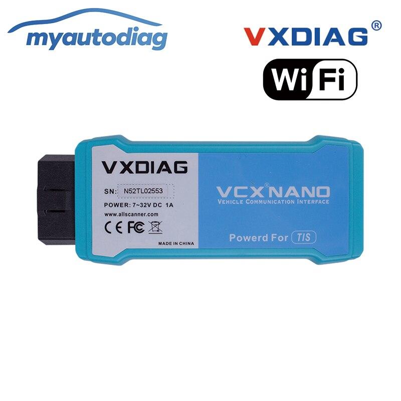 Promoción Original VXDIAG VCX NANO para TOYOTA TIS Techstream V12.00.127 Compatible con SAE J2534 mejor para Toyota It3 WiFi Ver