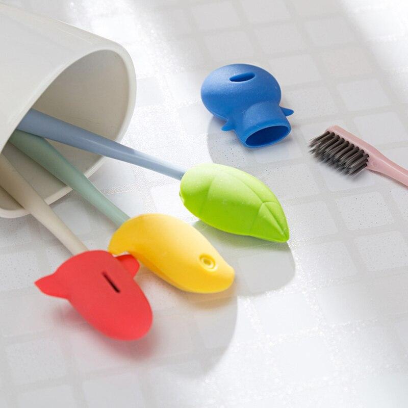1 pc viagem portátil cabeça da escova de dente tampa capa protetor caso silicone bonito avião pássaro escova de dentes cabeça armazenamento caixa titular