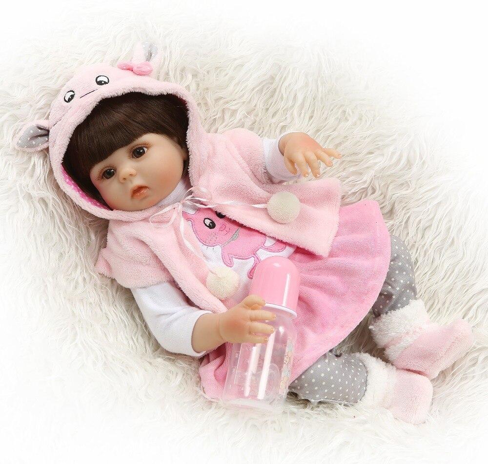NPK bebé reborn muñeca 48cm muñecas bebé completo de silicona Boneca Reborn Brinquedos Bonecas regalos del Día de los niños puede tomar el baño