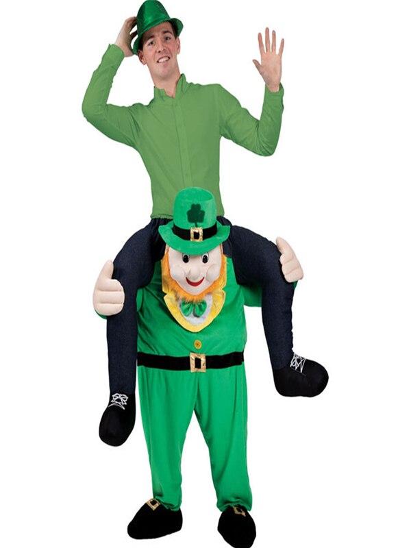 Disfraz de Mascota de Día de San Patricio de Leprechaun para Halloween